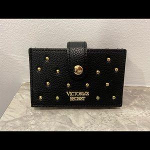 Victoria's Secret black wallet gold embellishments